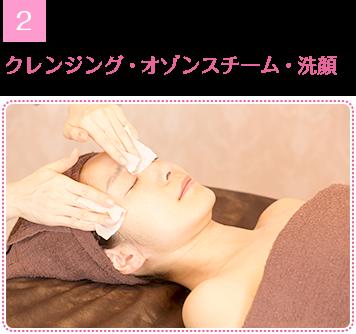 クレンジング・オゾンスチーム・洗顔